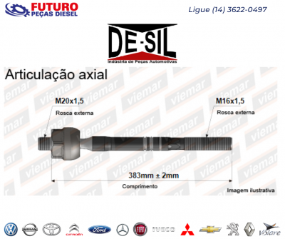 ARTICULACAO AXIAL LD FORD TRANSIT