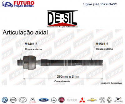 ARTICULACAO AXIAL HILUX 2.5 3.0 05/15