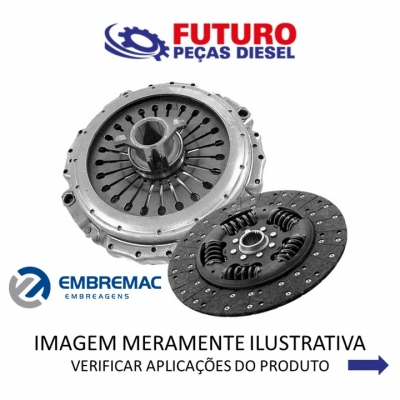 KIT EMBREAGEM 395MM C/ MORINGA VW FORD VOLVO